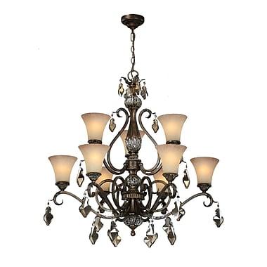 Astoria Grand Blackwater 9-Light Shaded Chandelier