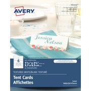 "Avery Place Cards, 1-7/16"" x 3-3/4"", Textured White, 150/Pack (16109)"