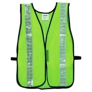 "Cordova (V121W) Non-Rated Lime Green Mesh Vest with 2"" Reflective Tape, 12/Pack"