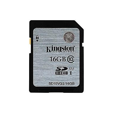 Kingston 16 GB Secure Digital High-Capacity SDHC Flash Memory (SD10VG2/16GBCR)