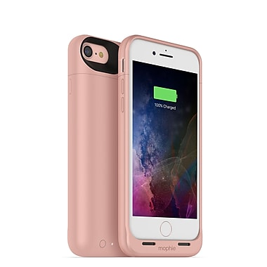 mophie Juice Pack Air Wireless Charging Cell Phone Case for iPhone 7, Rose Gold (15-01762)