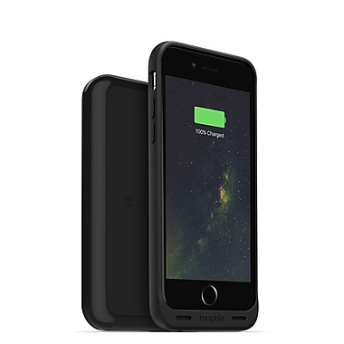 mophie Juice Pack Wireless Charging Cell Phone Case & Base for iPhone 6/6S, Black (15-01770)