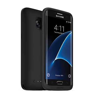 mophie Juice Pack Wireless Charging Cell Phone Case for Galaxy S7 edge, Black (15-01773)
