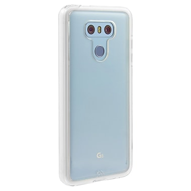 Case-Mate Naked Tough Bumper Cell Phone Case for LG G6, Clear (15-01640)
