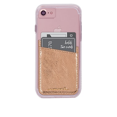 Case-Mate Pocket ID Cell Phone Case, Rose Gold (15-01647)