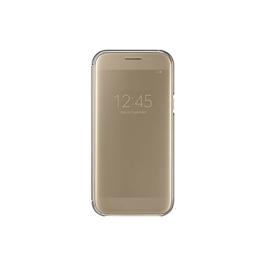 Samsung Clear View Cover Flip Cell Phone Case for Galaxy A5, Gold (15-01626)