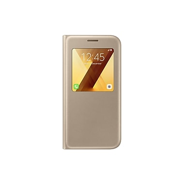 Samsung S View Cover Flip Cell Phone Case for Galaxy A5, Gold (15-01629)