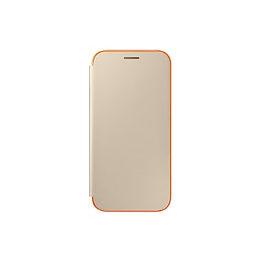 Samsung Neon Flip Cover Flip Cell Phone Case for Galaxy A5, Gold (15-01632)