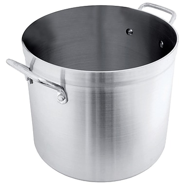 CRESTWARE Heavy-Duty Aluminum Stock Pot; 20 Qt.