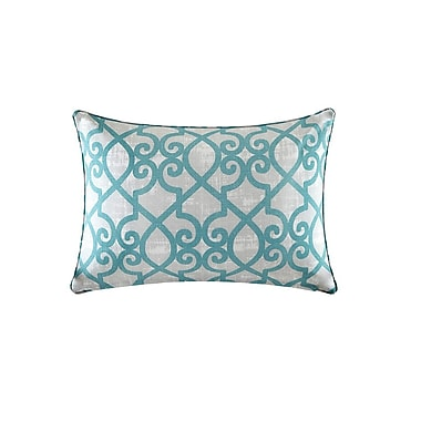 Charlton Home Barrows Outdoor Lumbar Pillow; Aqua