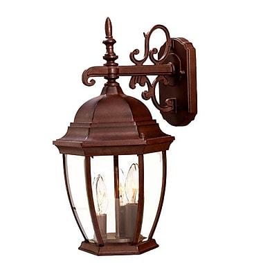 Astoria Grand Drumkeeran 3-Light Outdoor Sconce; Burled Walnut