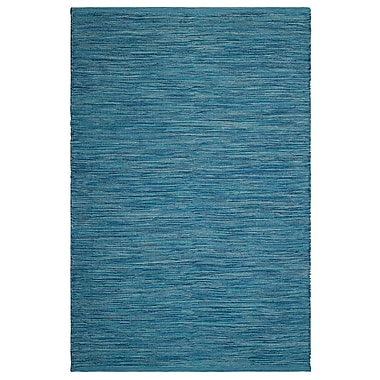 Fab Habitat Estate Cancun Hand-Woven Blue Indoor/Outdoor Area Rug; 6' x 9'