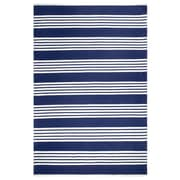 Fab Habitat Estate Mariona Hand-Woven Blue/White Indoor/Outdoor Area Rug; 4' x 6'