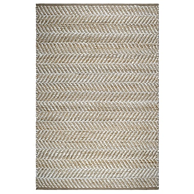 Fab Habitat Heartland Canyon Hand-Woven Light Brown/White Indoor/Outdoor Area Rug; 6' x 9'
