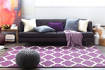 Charlton Home Blaisdell Purple Geometric Stella Area Rug; Rectangle 6' x 9'