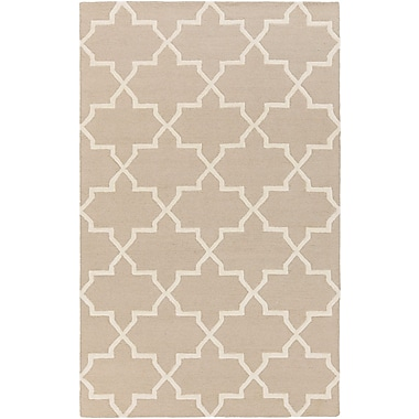 Charlton Home Blaisdell Beige Geometric Keely Area Rug; 6' x 9'
