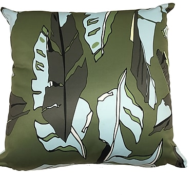 Collier Sun Banana Leaf Throw Pillow; Dark Green