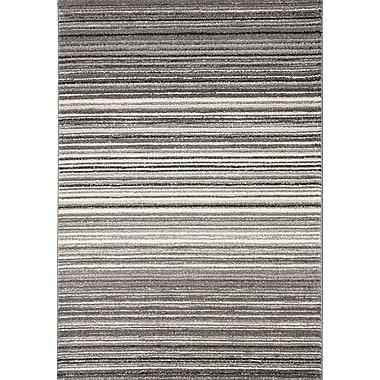 Red Barrel Studio Lyme Grey Cords Area Rug; 3'11'' x 5'7''