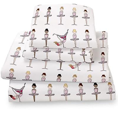 Where the Polka Dots Roam Ballerina / Brake Dancer Extra Deep Pocket Sheet Set; Queen