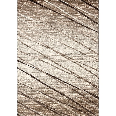 Ivy Bronx Copenhaver Brown Stripes Area Rug; 7'10'' x 10'10''
