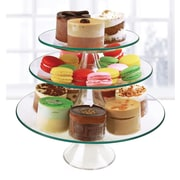 Circle Glass Chic 3 Tiered Stand
