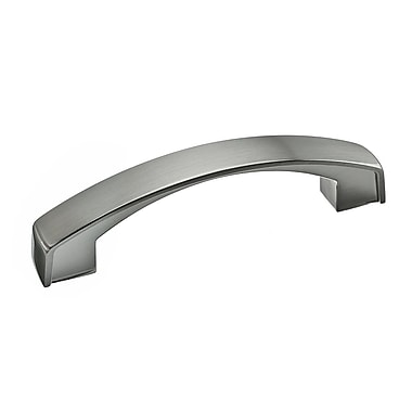 Richelieu 3 7/9'' Center Arch Pull; Brushed Nickel