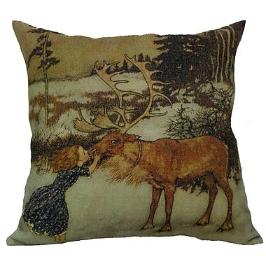 Golden Hill Studio Gerta and Reindeer Throw Pillow