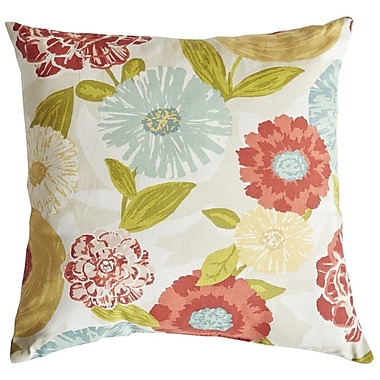 Swan Dye and Printing Luna Floral Cotton Throw Pillow