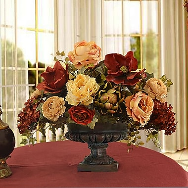 Floral Home Decor Mixed Centerpiece in Decorative Vase