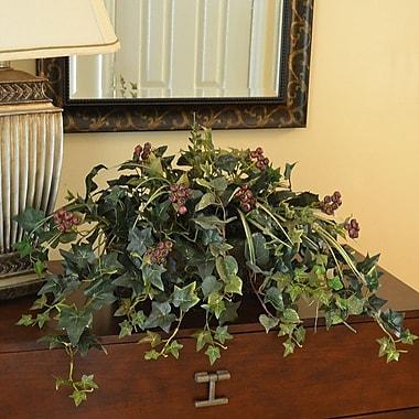 Floral Home Decor Silk Ledge Plant in Metal Planter
