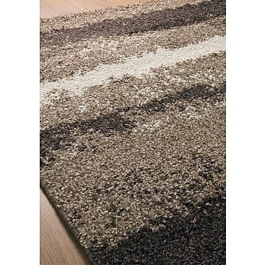 Latitude Run Rundey Stripes Cream/Brown Area Rug; 7'10'' x 10'10''