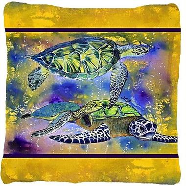 Caroline's Treasures Turtle Indoor/Outdoor Throw Pillow
