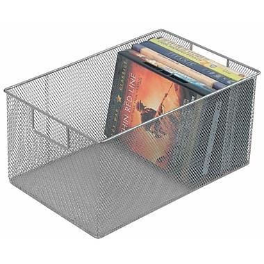 YBM Home Mesh Open Bin Storage Basket DVD Cd Book Holder Closet Cabinet Organizer