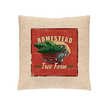 Heritage Lace Signs of Christmas Homestead Throw Pillow