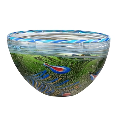 Dale Tiffany Moss and Feather Bowl