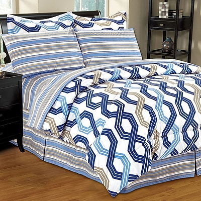 Home Sweet Home Dreams Complete Reversible Bed-In-A-Bag Set; Full
