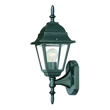 Charlton Home Ledbetter 1-Light Outdoor Cast Aluminium Sconce; Matte Black