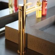 MaestroBath Single Hole Waterfall Faucet; Polished Gold