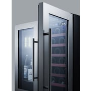 Summit Appliance 33 Bottle Dual Zone Built-In Wine Refrigerator