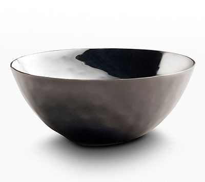 Mary Jurek Design Inc Plated Round Serving Bowl; Black Nickel
