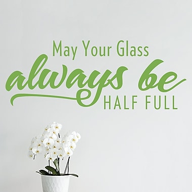 Wallums Wall Decor May Your Glass Always Be Half Full Wall Decal; Lime Green