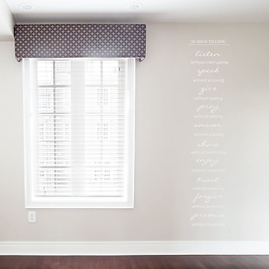 Wallums Wall Decor 10 Ways To Love Wall Decal; White