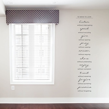 Wallums Wall Decor 10 Ways To Love Wall Decal; Dark Gray