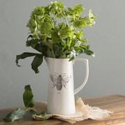 Creative Co-Op Garden Ceramic Bee Pitcher