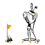 RetailSource Sports Bots Golf Bot Fore Pennant Banner
