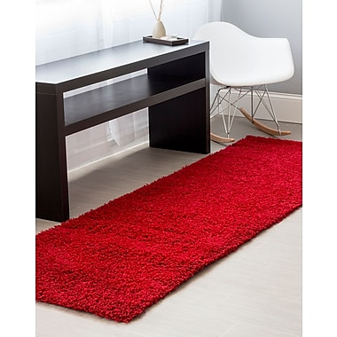 Super Area Rugs Red Area Rug; Runner 2'7'' x 8'