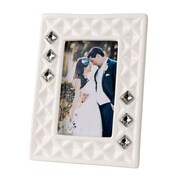 5th Ave Store Italian Bone China w/ Swarovski Crystals Picture Frame