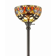 AmoraLighting Peacock 72'' Torchiere Floor Lamp