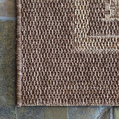 Studio by Brown Jordan Savannah Chestnut Beige Indoor/Outdoor Area Rug; Rectangle 7'10'' x 10'
