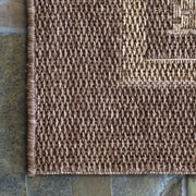 Studio by Brown Jordan Bridgeport Chestnut Havana Indoor/Outdoor Area Rug; 5'3'' x 7'5''